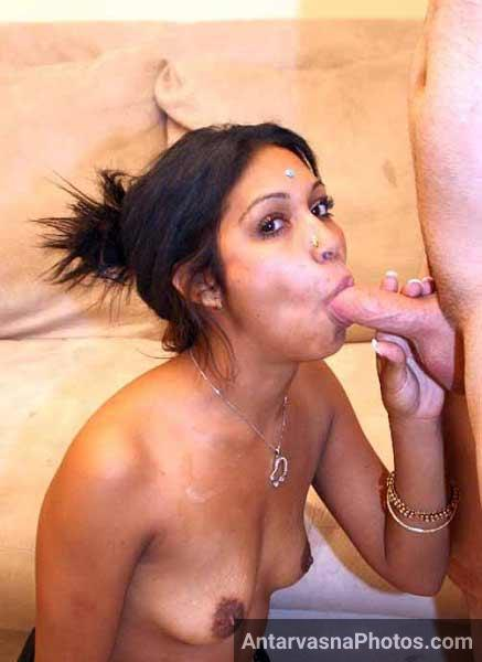 Horny Indian blowjob photo - Marathi bhabhi ne gore ko lund chusane ka sukh diya