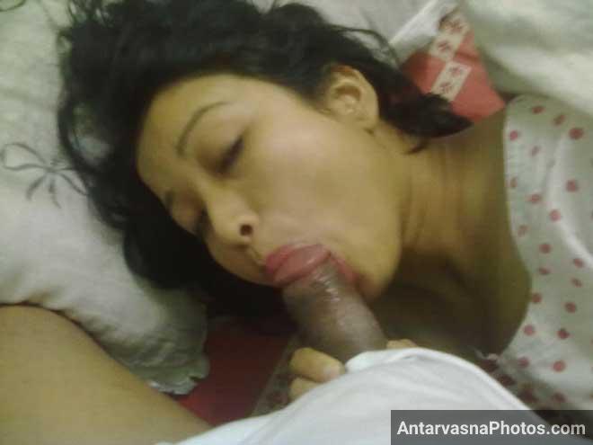 Bade hot andaz se bhabhi ne muh me lund liya tha aur wo use chus rahi thi
