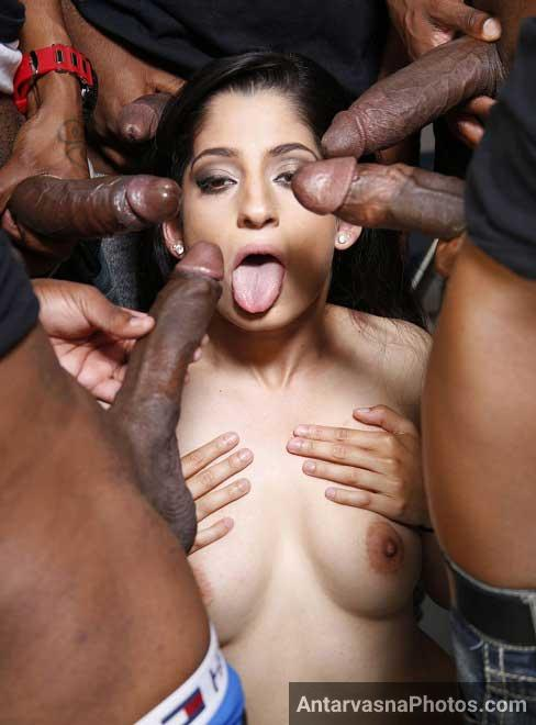 5 big lund bhabhi ke samne blowjob ke lie