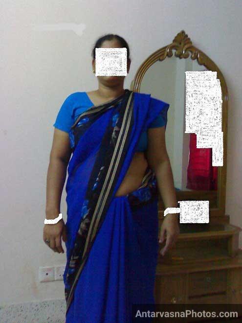 Kaya aunty blue saree me sexy maal lag rahi hai - Sex pics