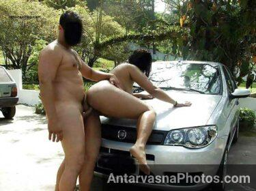 Hot bhabhi ko car ke bonnet ke upar chadha ke uncle ne choda
