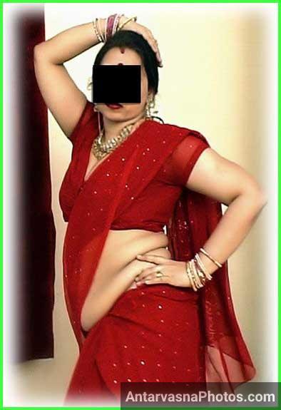 Indian aunty red saree ke andar qayamat lag rahi he