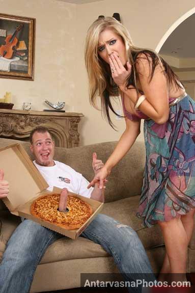 Pizza me rakh ke laya hu bada lund aap ke lie madam