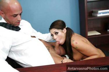 Sexy schoolgirl ke muh me teacher ka lund - Blowjob sex photos