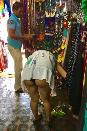 Desi ass show in public places