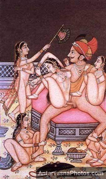 5 woman ne apne king ko maje diye - Kamasutra pics