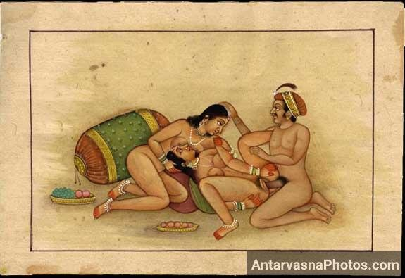 Raja ji aur do raniyo ka threesome sex photo