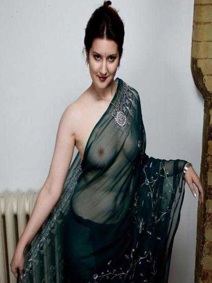 sexy indian model in saree