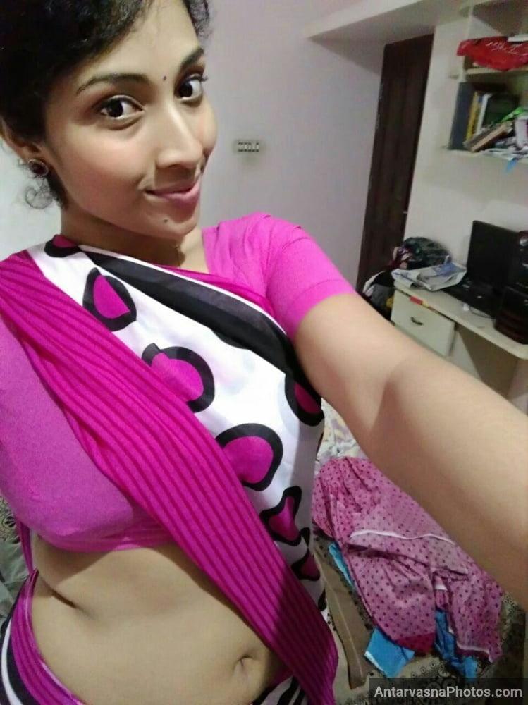 hot girl saree blouse me selfie leti hui